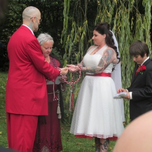 Justin and Chantelle exchange vows on 13 September 2013