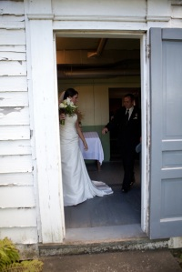 Mike and Ashley inside the front door, 2010