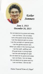 Esther Georgina Summers (1913–2013)