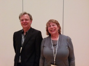 Mark Shoalts and Melanie Battell following their presentation at the OHC Niagara 2015 (courtesy of Rob Leverty)
